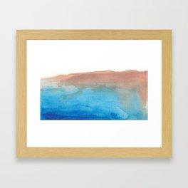 beach from the sky Framed Art Print