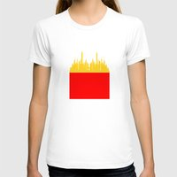 fries T-shirts featuring City Fries by OneWeirdDude