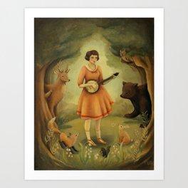 Banjo Recital Art Print