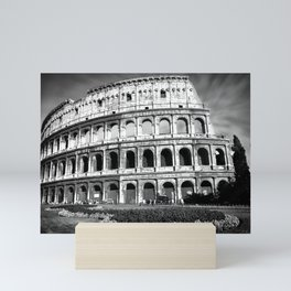 Black and White Colosseum Mini Art Print