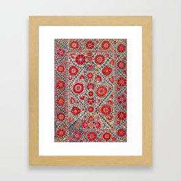 Kermina Suzani Uzbekistan Embroidery Print Framed Art Print