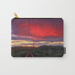 Northern sunset and a railway Carry-All Pouch