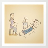 Psychotherapy in Session Art Print