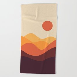 Geometric Landscape 21 Beach Towel