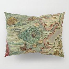 Antique Map Pillow Sham
