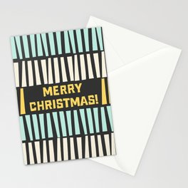 Mid-Century Modern illustrated Christmas Pattern Stationery Cards