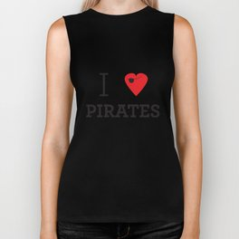 I heart Pirates Biker Tank