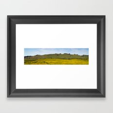Mustard Fields Framed Art Print