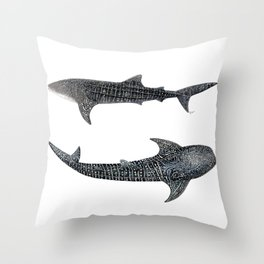 Whale sharks Throw Pillow