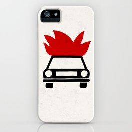 the car's on fire iPhone Case