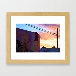Wynwood Walls Sunset Framed Art Print