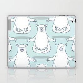 Levitating Meditating Polar Bear Laptop & iPad Skin