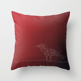 Paisley Bird Throw Pillow