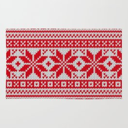 Winter knitted pattern 6 Rug
