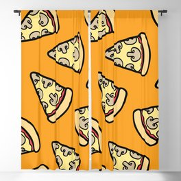 Mushroom Pizza Pattern Blackout Curtain