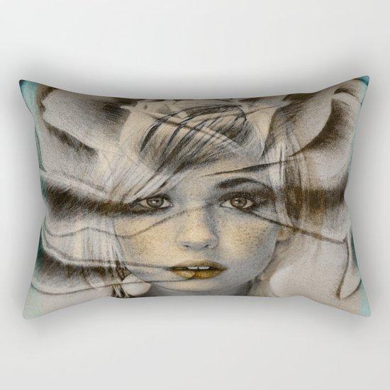 Rose Face Rectangular Pillow