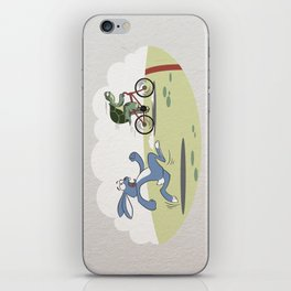 """""""Turtle and rabbit race"""" iPhone Skin"""