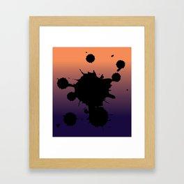 Sunset Gradient Splatter Framed Art Print