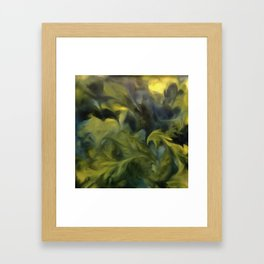 Jack Frost In Blue Gray and Yellow Framed Art Print