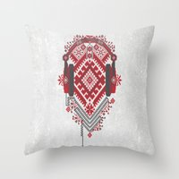 ethnic Throw Pillows featuring Ethnic by sophtunes