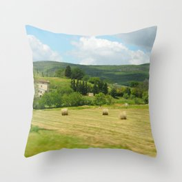 Italian Countryside Throw Pillow