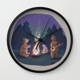 Singing Bears Wall Clock