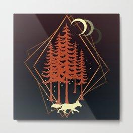 One Red Fox Metal Print
