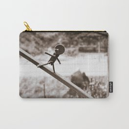 Metal Figure Walking Down Carry-All Pouch