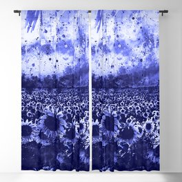 abstract sunflowers wsdb Blackout Curtain