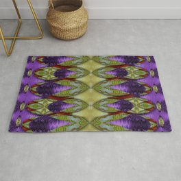 Divine flowers striving to reach universe Rug