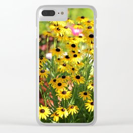 Black Eyed Susans In Shadow Clear iPhone Case