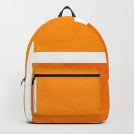 Antique Yellow  & Yellow Ochre Mid Century Modern Abstract Minimalist Rothko Color Field Squares Backpack