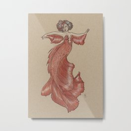 Dancing Mermaid Metal Print