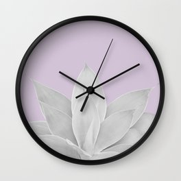 Lavender Fog Agave #1 #tropical #decor #art #society6 Wall Clock