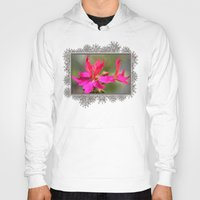grafitti Hoodies featuring Zonal Stellar Geranium named Grafitti Violet by JMcCombie