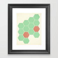 Mint Honeycomb Framed Art Print