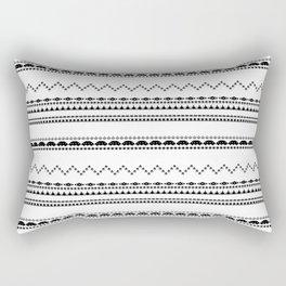 Retro Gaming Aztec Pattern Rectangular Pillow