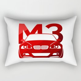 BMW E46 M3 - classic red - Rectangular Pillow