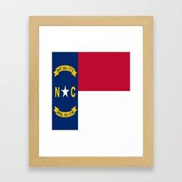 flag of north carolina-south,america,usa,Old North State,Tar Heel,North Carolinian,Charlotte,Raleigh Framed Art Print