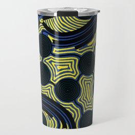Aboriginal Art – The Rivers around Us Travel Mug