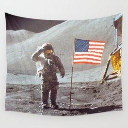 American Moon Landing Wall Tapestry
