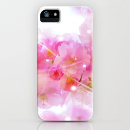 Japanese Sakura Tree with Pastel Pink Blossoms iPhone Case