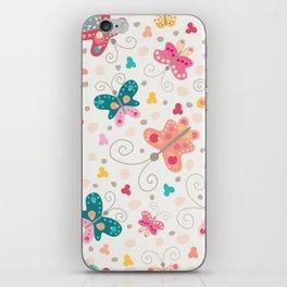 Spring butterflies iPhone Skin