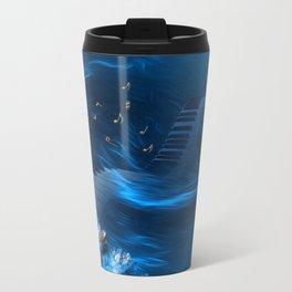 Blue coral melody  Travel Mug