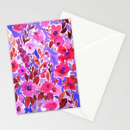 Isla Floral Purple Stationery Cards