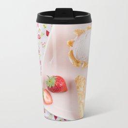 Strawberry ice cream Metal Travel Mug