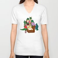 dinosaurs V-neck T-shirts featuring Dinosaurs by Dionisia Tzavalas
