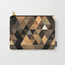Pale Orange Gold Brown Masculine Colors Triangles Polygon Pattern Carry-All Pouch