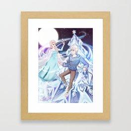Merry Frozen Christmas Framed Art Print