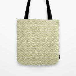 Abstract geometric pastel green white gradient triangles Tote Bag